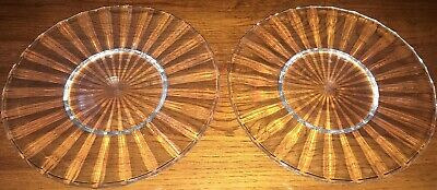 Villeroy & Boch Paloma Picasso Plates Glass Salad / Dessert Plates Set Of Two • 75£