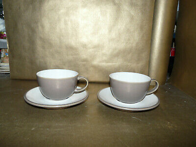 2x Denby Truffle Cups And Saucers • 13.99£