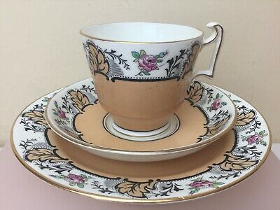 Fenton China Art Deco Tea Trio Tea Cup Saucer & Side Plate Superb Condition • 14.99£