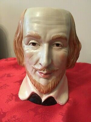 LARGE WILLIAM SHAKESPEARE TOBY JUG NEARLY 18cm HIGH • 9.99£