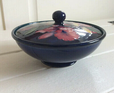Beautiful Floral Moorcroft Lidded Bowl/ Dish, Orchid, Hand Painted Ornament • 45£