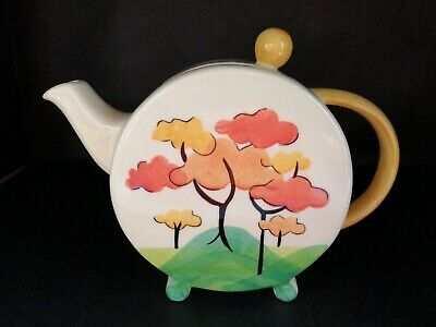Past Times Art Deco Teapot Clarice Cliff Style IMMACULATE • 18£