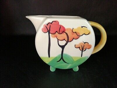 Past Times Art Deco Milk / Cream Jug Clarice Cliff Style IMMACULATE • 21£