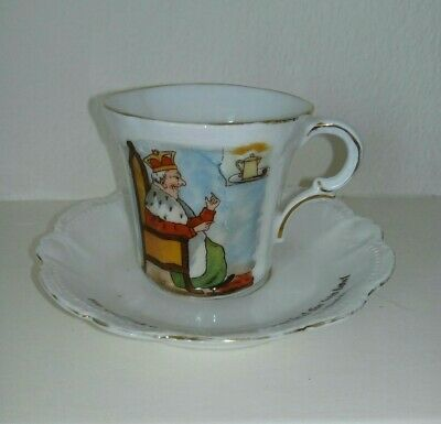 Vintage Nursery Rhymes Cup And Saucer. Old King Cole 1900 S • 10£