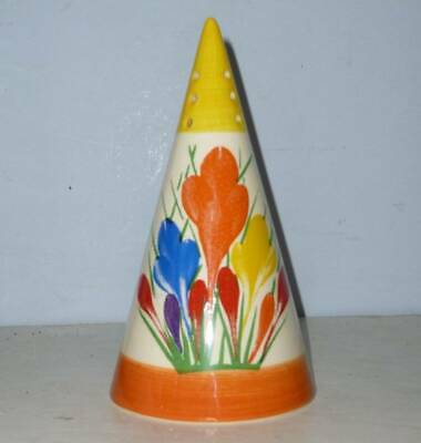 Moorland Clarice Cliff Art Deco Crocus Conical Sugar Sifter • 39.95£