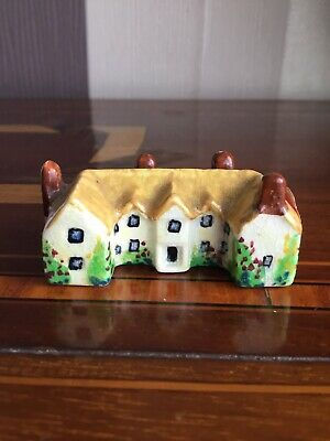 Antique Miniature Pottery  Country Estate House, Hand Made And Painted • 4.99£