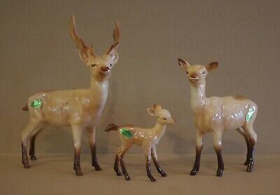 ### Lovely Vintage Beswick Deer Group - Stag, Doe And Fawn ### • 75£