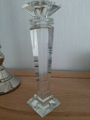 Solid Glass Candlestick • 2£