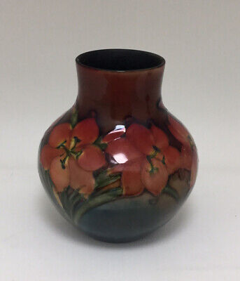 Early 20th Century Moorcroft Freesia Patterned Flambé Vase A/F Signed • 49.99£