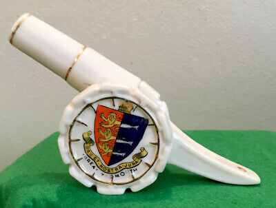Rare  A.S.ARCADIAN CRESTED WARE War Edition CANON GREAT YARMOUTH COAT OF ARMS • 9.99£