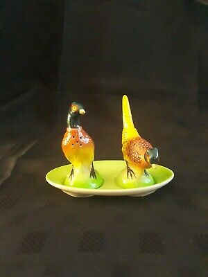 CARLTON WARE Golden Pheasant Salt And Pepper Cruet With Stand • 5.95£