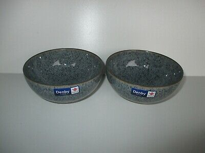 Denby Studio Grey 2 X Rice Bowls New First Quality Excellent Condition • 27.50£