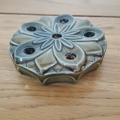 Vintage Wade Candle Holder, 6 Candles Stand, Ceramic Candle Stick, Water Lilly • 10£