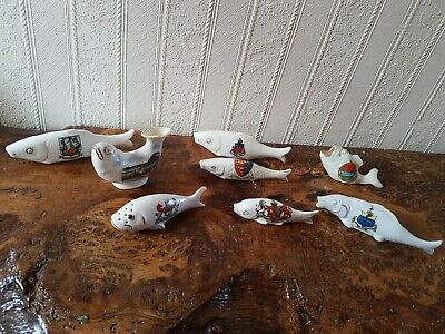 Collection Of 8 Fish Crested Ware - Including Gemma, Arcadian • 7.99£