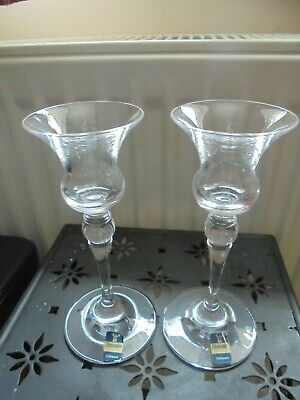 Pair Of Crystal Candlesticks Gleneagles 6.5in Tall Vgc • 5.99£
