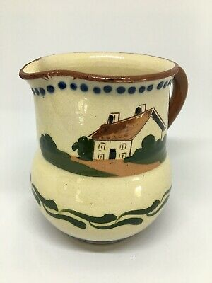 Devon Ware Milk Jug - 'Time Ripens All Things' Early 20th Century • 0.99£