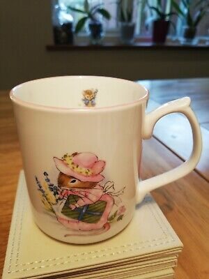 Hornsea Country Scene Nursery Cup With Pink Edge Christening Baby Collectible  • 3£