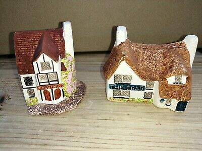 Philip Laureston Miniature Houses X 2 The Crab & Toll House Babbacombe Pottery • 1.99£