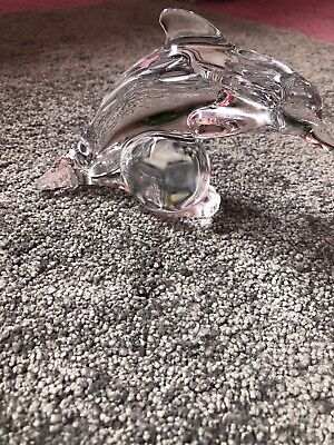 Galway 24% Lead Crystal Dolphin Figure. • 3.50£