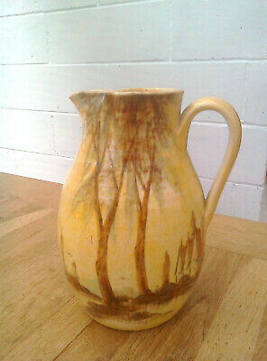 1930s Edward Radford Pottery Jug - 'Tall Trees' Design By James Harrison • 38£