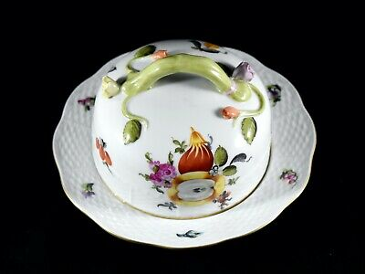 Vintage Herend Circular Butter Cheese Dish • 115£