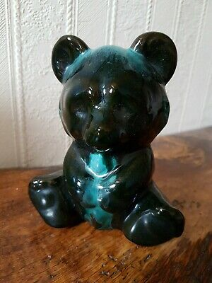 Vintage Canadian Blue Mountain Pottery Teddy Bear 13cm • 5.99£