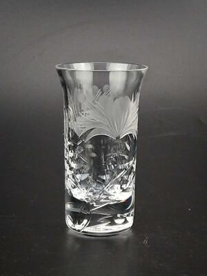 Cut Glass Shot For Cordial  With Flower Pattern • 27£