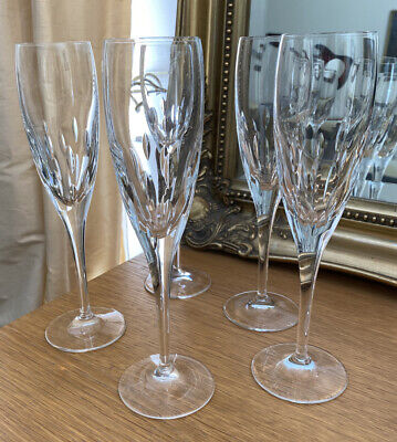 Royal Doulton Crystal Champagne Flutes X 5 Fabulous! • 16.97£