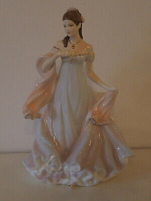 Vintage Royal Worcester Bone China Porcelain Figurine With All My Heart • 29.99£