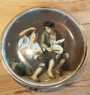 Vintage Cabinet Wall Plate 'the Begger Boys' Lord Nelson Pottery • 19.99£