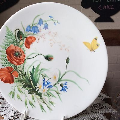 China Plate With No 7 To Base Poppies On Butterfly • 18£