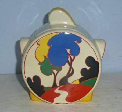 Superb Moorland Clarice Cliff Art Deco Ryehills Sugar Pot • 39.95£