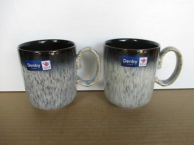 Denby Pottery Halo 2 X Straight Mugs New First Quality Excellent Condition • 22.75£