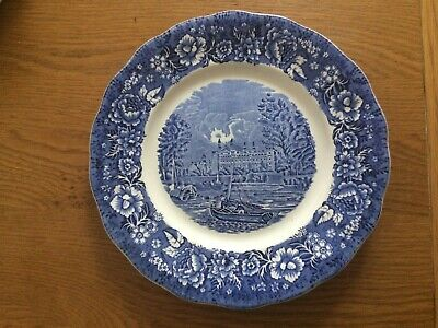 Palissy Pottery, Thames River Scenes - Eton College Plate - Blue And White • 0.99£