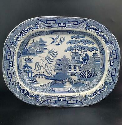 Large Meat Platter Willow Pattern Staffordshire • 89£