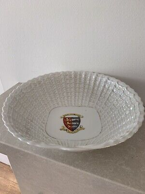 Vintage Victoria China Great Yarmouth Motto Dish Made In Czechoslovakia • 6£