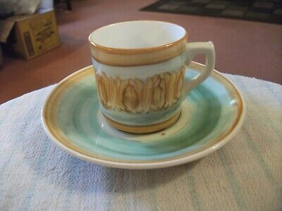 Moulin Huet Guernsey Vintage Small Cup And Saucer Hand Painted Nice Item • 3.99£