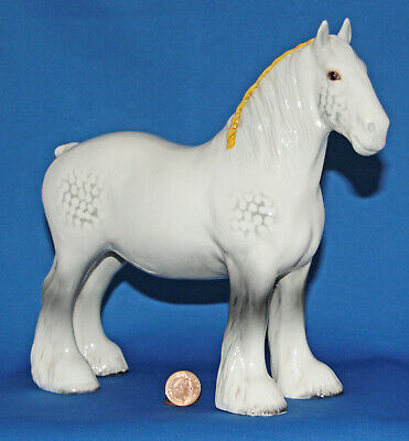 VINTAGE BESWICK POTTERY SHIRE MARE In GREY GLOSS, MODEL NUMBER 818 • 44.50£
