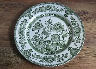English Ironstone Tableware Green Indian Tree Dinner Plate (approx 24.5 Cm). • 9.99£