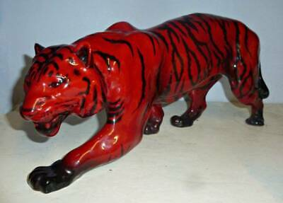 Large DOULTON FLAMBE Figure Of A TIGER - HN1082 C.1950 • 395£