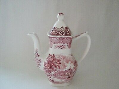 Grindley English Country Inns The Talbot Pink Coffee Pot - Damaged • 9.95£
