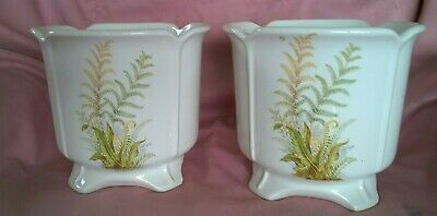 Two Vintage Wade Pottery Indoor Plant Pots • 9£