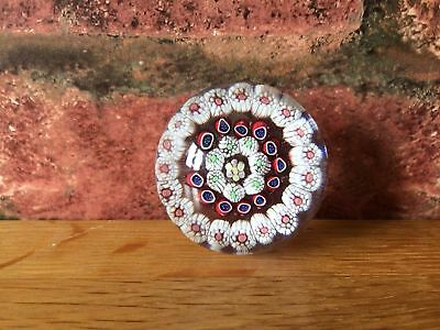 Rare Miniature 1852 Antique Victorian Baccarat Three Ring Concentric Paperweight • 275£