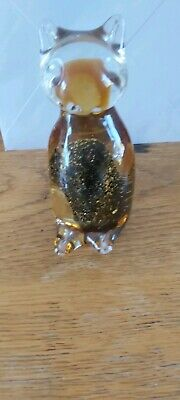Glass Cat Paperweight • 1.90£