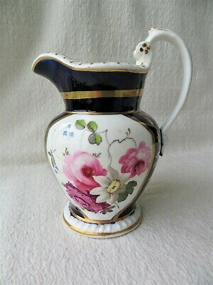 ANTIQUE 19THC HAND PAINTED FLOWERS COALPORT JUG 3 Of 3 • 58£