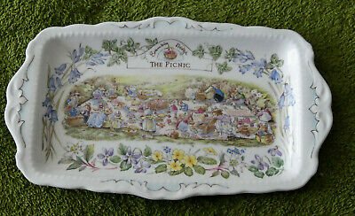 Royal Doulton Brambly Hedge The Picnic Sandwich Plate 1st Quality • 120£