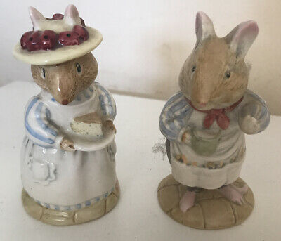 Royal Doulton Mr & Mrs Apple Bramble Hedge Vintage Figures • 10.50£