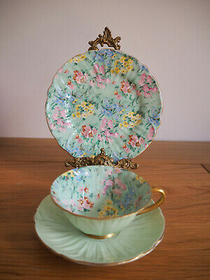 Shelley Melody Chinz Tea Cup And Saucer And Tea Plate • 149£
