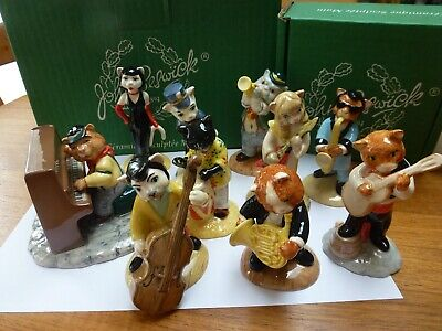 Beswick Cats Chorus Band Complete Set Of 10 - All Boxed • 2.20£