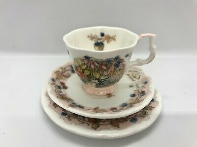 Miniature Royal Doulton Brambly Hedge Autumn Trio • 13.98£